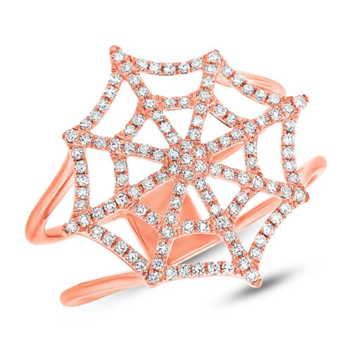0.32ct 14k Rose Gold Diamond Spider Web Ring SC55002859 500x500 - 0.32ct 14k Rose Gold Diamond Spider Web Ring SC55002859