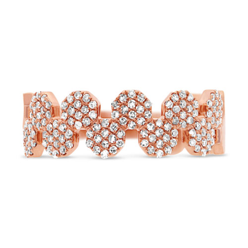 0.33ct 14k Rose Gold Diamond Pave Octagon Ring SC55001414 1 500x500 - 0.33ct 14k Rose Gold Diamond Pave Octagon Ring SC55001414