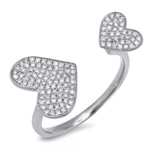 0.33ct 14k White Gold Diamond Pave Heart Ring SC55001180 300x300 - Making your partner cheery with Dallas Diamond
