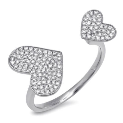0.33ct 14k White Gold Diamond Pave Heart Ring SC55001180 400x400 - 0.33ct 14k White Gold Diamond Pave Heart Ring SC55001180