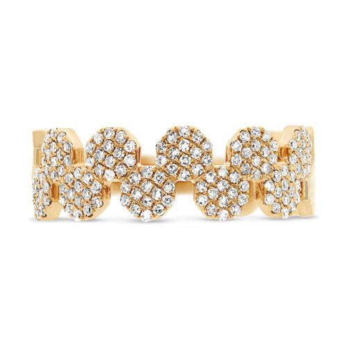 0.33ct 14k Yellow Gold Diamond Pave Octagon Ring SC55001413 1 500x500 - 0.33ct 14k Yellow Gold Diamond Pave Octagon Ring SC55001413