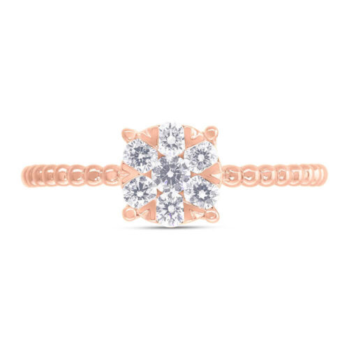 0.35ct 14k Rose Gold Diamond Cluster Ring SC66001251 1 500x500 - 0.35ct 14k Rose Gold Diamond Cluster Ring SC66001251