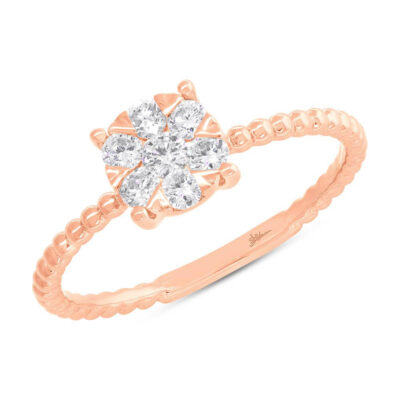 0.35ct 14k Rose Gold Diamond Cluster Ring SC66001251 400x400 - 0.35ct 14k Rose Gold Diamond Cluster Ring SC66001251