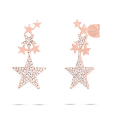 0.35ct 14k Rose Gold Diamond Star Earring SC55006077 400x400 - 0.35ct 14k Rose Gold Diamond Star Earring SC55006077