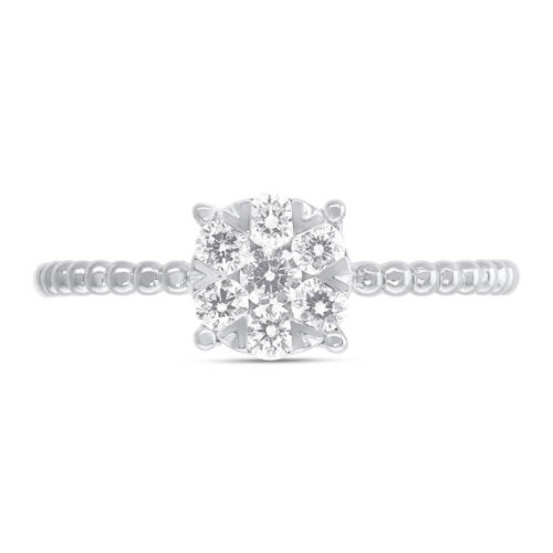 0.35ct 14k White Gold Diamond Cluster Ring SC66001249 1 500x500 - 0.35ct 14k White Gold Diamond Cluster Ring SC66001249