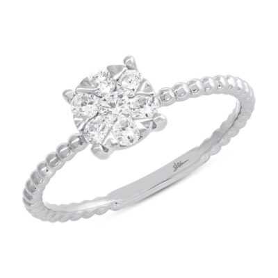 0.35ct 14k White Gold Diamond Cluster Ring SC66001249 400x400 - 0.35ct 14k White Gold Diamond Cluster Ring SC66001249