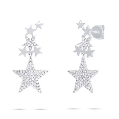 0.35ct 14k White Gold Diamond Star Earring SC55006075 400x400 - 0.35ct 14k White Gold Diamond Star Earring SC55006075