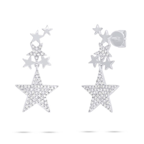 0.35ct 14k White Gold Diamond Star Earring SC55006075 500x500 - 0.35ct 14k White Gold Diamond Star Earring SC55006075