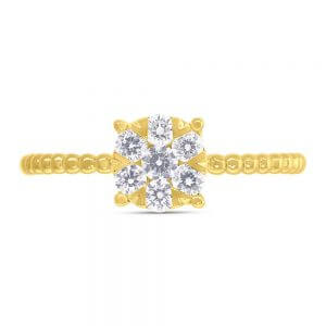 0.35ct 14k Yellow Gold Diamond Cluster Ring SC66001250 1 300x300 - Dallas Gold and Silver Dallas