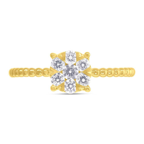 0.35ct 14k Yellow Gold Diamond Cluster Ring SC66001250 1 500x500 - 0.35ct 14k Yellow Gold Diamond Cluster Ring SC66001250