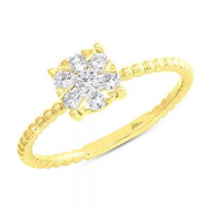 0.35ct 14k Yellow Gold Diamond Cluster Ring SC66001250 300x300 - 0.35ct 14k Yellow Gold Diamond Cluster Ring SC66001250