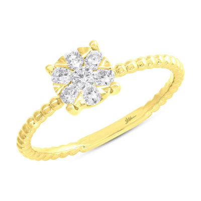 0.35ct 14k Yellow Gold Diamond Cluster Ring SC66001250 400x400 - 0.35ct 14k Yellow Gold Diamond Cluster Ring SC66001250