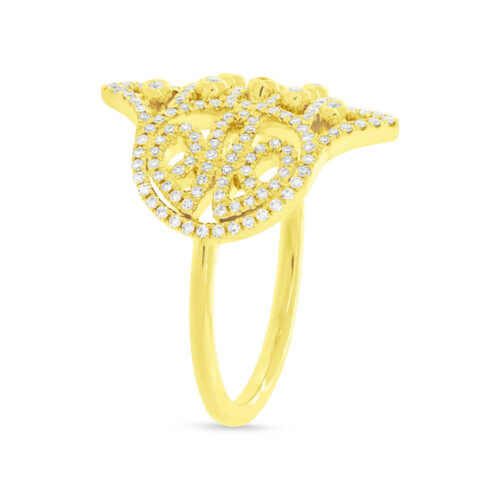 0.35ct 14k Yellow Gold Diamond Hamsa Ring SC55004339 1 500x500 - 0.35ct 14k Yellow Gold Diamond Hamsa Ring SC55004339