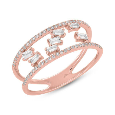 0.36ct 14k Rose Gold Diamond Baguette Ladys Ring SC36213836 400x400 - 0.36ct 14k Rose Gold Diamond Baguette Lady's Ring SC36213836