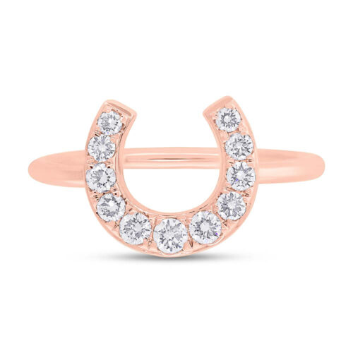 0.36ct 14k Rose Gold Diamond Horseshoe Ring SC55006266 1 500x500 - 0.36ct 14k Rose Gold Diamond Horseshoe Ring SC55006266
