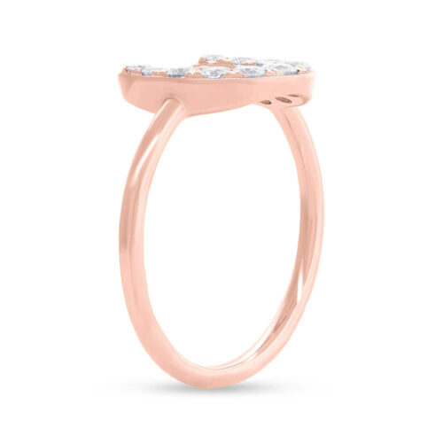 0.36ct 14k Rose Gold Diamond Horseshoe Ring SC55006266 2 500x500 - 0.36ct 14k Rose Gold Diamond Horseshoe Ring SC55006266
