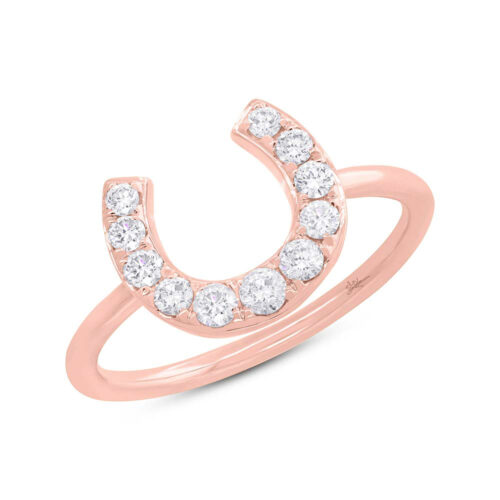 0.36ct 14k Rose Gold Diamond Horseshoe Ring SC55006266 500x500 - 0.36ct 14k Rose Gold Diamond Horseshoe Ring SC55006266