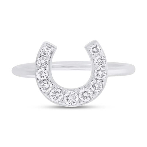 0.36ct 14k White Gold Diamond Horseshoe Ring SC55006264 1 500x500 - 0.36ct 14k White Gold Diamond Horseshoe Ring SC55006264