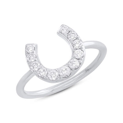 0.36ct 14k White Gold Diamond Horseshoe Ring SC55006264 400x400 - 0.36ct 14k White Gold Diamond Horseshoe Ring SC55006264