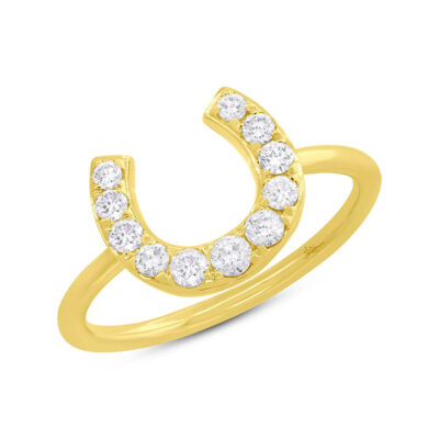 0.36ct 14k Yellow Gold Diamond Horseshoe Ring SC55006265 400x400 - 0.36ct 14k Yellow Gold Diamond Horseshoe Ring SC55006265