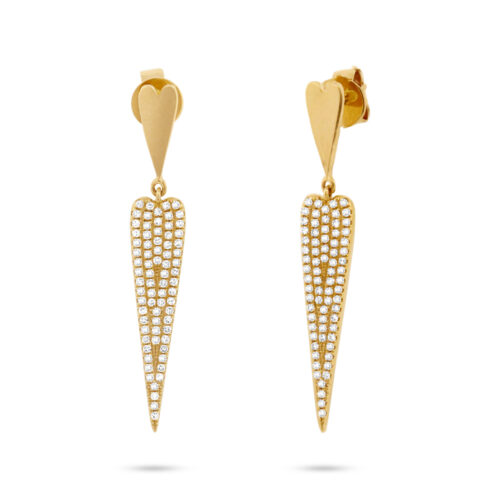 0.36ct 14k Yellow Gold Diamond Pave Earring SC55001681 500x500 - 0.36ct 14k Yellow Gold Diamond Pave Earring SC55001681