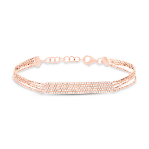 0.39ct 14k Rose Gold Diamond Pave ID Bracelet SC55004408 500x500 - 0.39ct 14k Rose Gold Diamond Pave ID Bracelet SC55004408