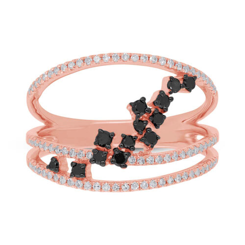 0.43ct 14k Rose Gold Black White Diamond Ladys Ring SC36213805 1 500x500 - 0.43ct 14k Rose Gold Black & White Diamond Lady's Ring SC36213805