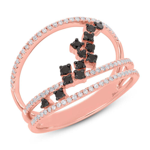0.43ct 14k Rose Gold Black White Diamond Ladys Ring SC36213805 500x500 - 0.43ct 14k Rose Gold Black & White Diamond Lady's Ring SC36213805