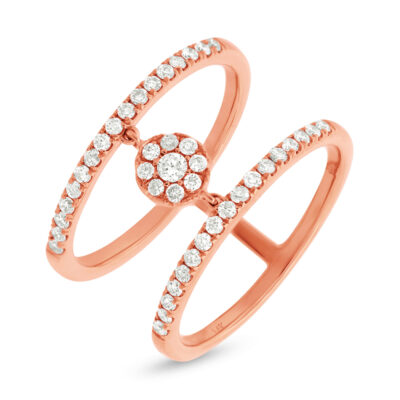 0.43ct 14k Rose Gold Diamond Ladys Ring SC22003718 400x400 - 0.43ct 14k Rose Gold Diamond Lady's Ring SC22003718