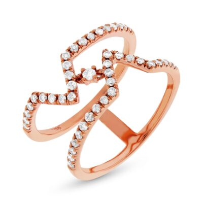 0.43ct 14k Rose Gold Diamond Ladys Ring SC22003765 400x400 - 0.43ct 14k Rose Gold Diamond Lady's Ring SC22003765