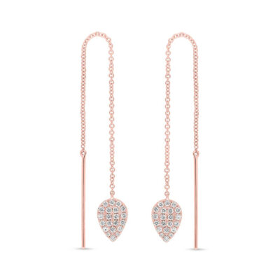 0.43ct 14k Rose Gold Diamond Threader Earring SC55005848 400x400 - 0.43ct 14k Rose Gold Diamond Threader Earring SC55005848