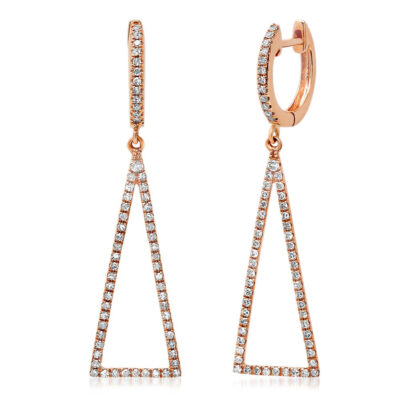 0.43ct 14k Rose Gold Diamond Triangle Earring SC22003285 400x400 - 0.43ct 14k Rose Gold Diamond Triangle Earring SC22003285