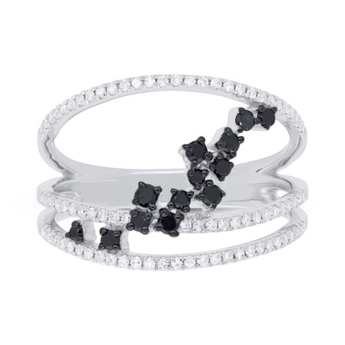 0.43ct 14k White Gold Black White Diamond Ladys Ring SC36213803 1 500x500 - 0.43ct 14k White Gold Black & White Diamond Lady's Ring SC36213803