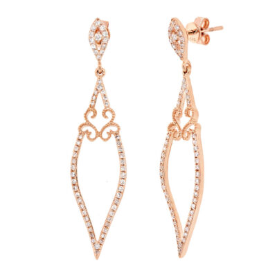 0.44ct 14k Rose Gold Diamond Earring SC36213059 400x400 - 0.44ct 14k Rose Gold Diamond Earring SC36213059