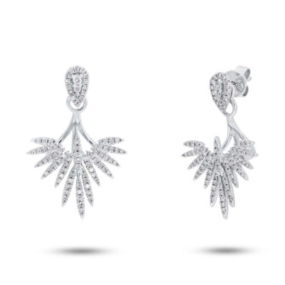 0.44ct 14k White Gold Diamond Ear Jacket Earring with Studs SC55005274 400x400 - 0.44ct 14k White Gold Diamond Ear Jacket Earring with Studs SC55005274