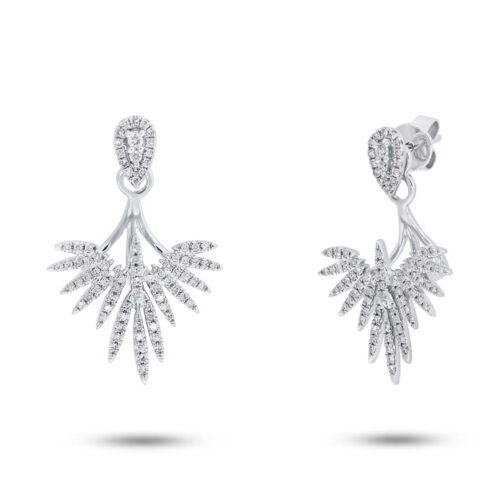 0.44ct 14k White Gold Diamond Ear Jacket Earring with Studs SC55005274 500x500 - 0.44ct 14k White Gold Diamond Ear Jacket Earring with Studs SC55005274