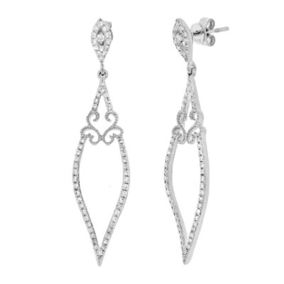 0.44ct 14k White Gold Diamond Earring SC36213055 400x400 - 0.44ct 14k White Gold Diamond Earring SC36213055