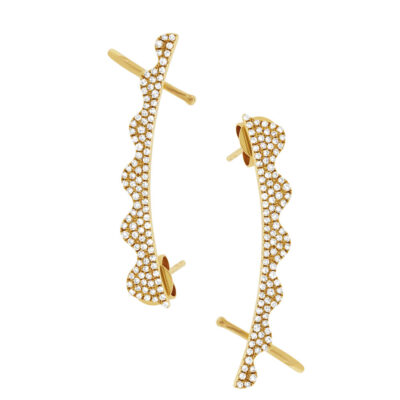 0.45ct 14k Yellow Gold Diamond Ear Crawler Earring SC55001428 400x400 - 0.45ct 14k Yellow Gold Diamond Ear Crawler Earring SC55001428