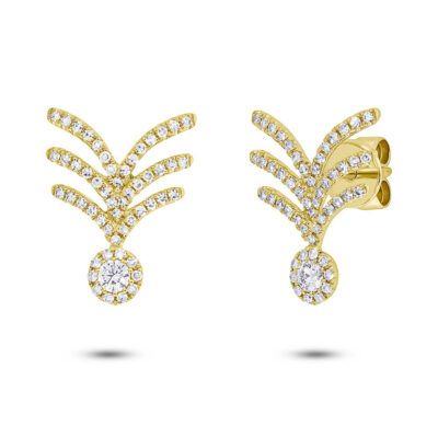 0.45ct 14k Yellow Gold Diamond Earring SC55005576 400x400 - 0.45ct 14k Yellow Gold Diamond Earring SC55005576