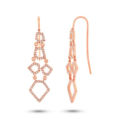0.48ct 14k Rose Gold Diamond Earring SC55002440 400x400 - 0.48ct 14k Rose Gold Diamond Earring SC55002440