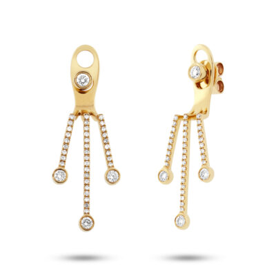 0.48ct 14k Yellow Gold Diamond Ear Jacket Earring with Studs SC55001981 1 400x400 - 0.48ct 14k Yellow Gold Diamond Ear Jacket Earring with Studs SC55001981