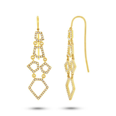 0.48ct 14k Yellow Gold Diamond Earring SC55002439 400x400 - 0.48ct 14k Yellow Gold Diamond Earring SC55002439