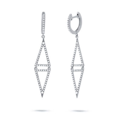 0.49ct 14k White Gold Diamond Triangle Earring SC22003485 400x400 - 0.49ct 14k White Gold Diamond Triangle Earring SC22003485
