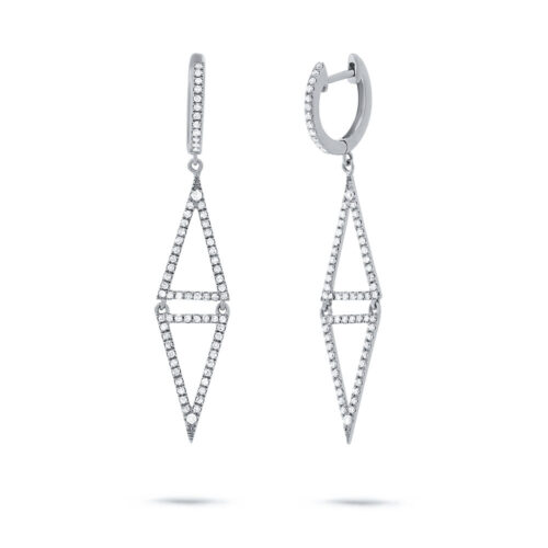0.49ct 14k White Gold Diamond Triangle Earring SC22003485 500x500 - 0.49ct 14k White Gold Diamond Triangle Earring SC22003485