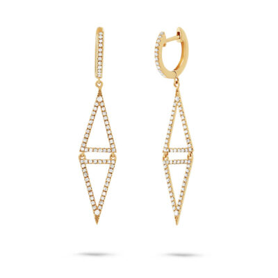 0.49ct 14k Yellow Gold Diamond Triangle Earring SC22003545 400x400 - 0.49ct 14k Yellow Gold Diamond Triangle Earring SC22003545