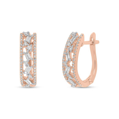 0.51ct 14k Rose Gold Diamond Baguette Huggie Earring SC36213557 400x400 - 0.51ct 14k Rose Gold Diamond Baguette Huggie Earring SC36213557