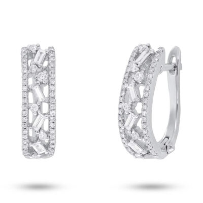 0.51ct 14k White Gold Diamond Baguette Huggie Earring SC36213555 400x400 - 0.51ct 14k White Gold Diamond Baguette Huggie Earring SC36213555