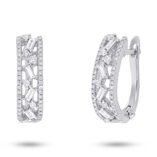 0.51ct 14k White Gold Diamond Baguette Huggie Earring SC36213555 500x500 - 0.51ct 14k White Gold Diamond Baguette Huggie Earring SC36213555