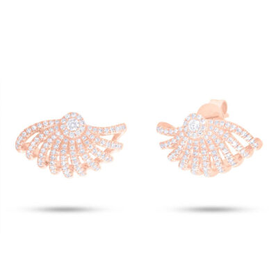 0.53ct 14k Rose Gold Diamond Earring SC55006758 400x400 - 0.53ct 14k Rose Gold Diamond Earring SC55006758