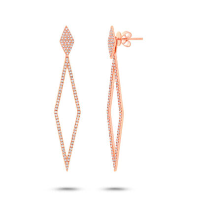 0.56ct 14k Rose Gold Diamond Ear Jacket Earring with Studs SC55002326 400x400 - 0.56ct 14k Rose Gold Diamond Ear Jacket Earring with Studs SC55002326